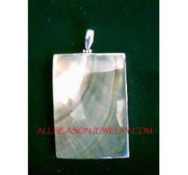 Genuine Shells Silver Pendant