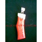 RedCoral Pendant Silver