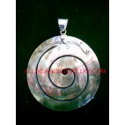 Carving Shells Pendant Silver