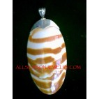 Tiger Shell Silver Pendant