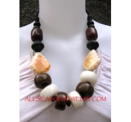 Ethnic Traditional Wood Necklaces
