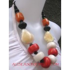 Ethnic Wooden Fashion Multi Color Necklace