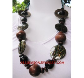 Bali Hand Painted Necklaces Wood Designs