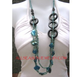 Beaded Necklaces Casual Designs Wood