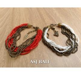 multiple seeds beads bracelet charm fashion women accessories 2color