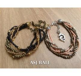 multiple seeds beads bracelet charm fashion accessories 2color