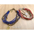 multiple strand beads bracelet charm fashion accessories 2color design