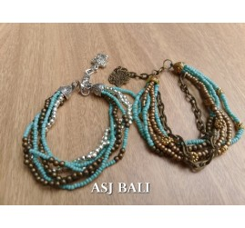 multiple strand beads bracelet charm fashion accessories 2style