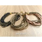 multiple strand beads bracelet charm fashion accessories 3color