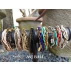 multiple strand beads bracelet charm fashion accessories mix color