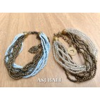 multiple strand beads bracelet charm women fashion accessories bali design