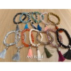 tassel bracelet crystal beads women fashion accessories mix color