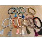 tassel bracelet crystal beads women fashion accessories mix color