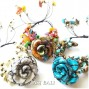 cow leather bracelet flower design with stone beads fashion