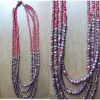 four seeds beads necklaces charming steels red color