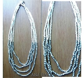 four strand necklaces beads with steels charm