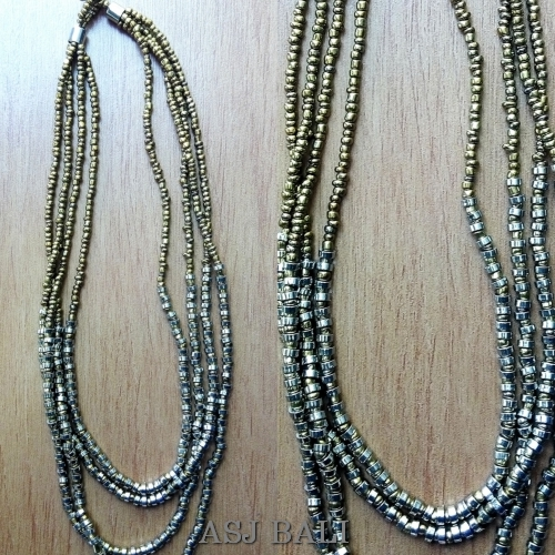 handmade beads necklaces natural with steel