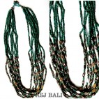 multi seeds necklaces beads steel charm fashion accessories
