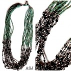 multiple strand beads crystal necklaces silver fashion jewelry