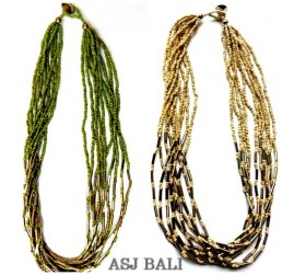 two color beads mono color fashion necklaces with chain