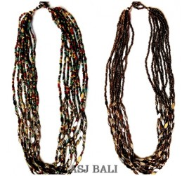 two color necklaces multiple seeds fashion accessories