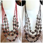 beads necklaces with flowers silver accessories charm