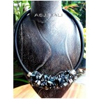 chokers necklaces sea shells bead accessories black color