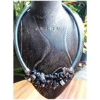 chokers necklaces sea shells beads accessories grey
