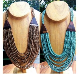 golden beads turquoise necklaces balinese handmade design
