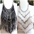 multiple strand necklaces beads casandra long motif
