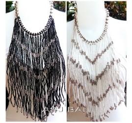 multiple strand necklaces beads casandra long motif