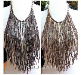 multiple strand necklaces beads motif casandra design