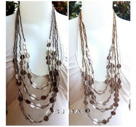 silver gold beading necklaces with charm accessories