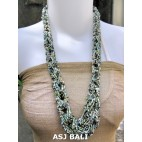 bali bead necklaces long wired color mix natural turquoise