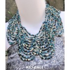 butterfly necklaces beads multiple strand mix color turquoise
