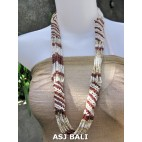 fashion beads necklaces color mix long strand wrap natural brown