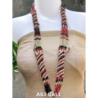 fashion beads necklaces color mix long strand wrap red mix
