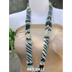 fashion beads necklaces color mix long strand wrap turquoise
