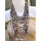 fashion necklaces mix beads multiple strand design