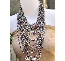 fashion necklaces mix beads multiple strand design