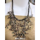 handmade unique beaded women necklace beads