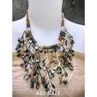 handmade unique beaded women necklaces shell beads