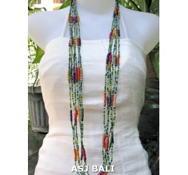 long strands necklaces beads mix combine color