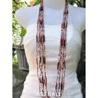 long strands necklaces glass beads mix combine color