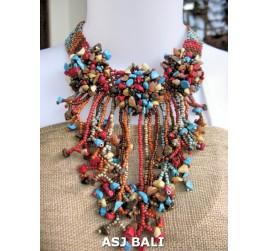mix stone necklaces beads handmade artist design