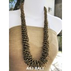 multiple seeds beads golden grass system fashion necklaces