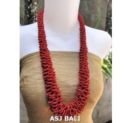 multiple seeds beads red grass system fashion necklaces