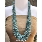 multiple seeds beads turquoise grass system fashion necklaces