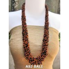 multiple seeds beads two color grass design fashion necklaces