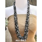 multiple seeds beads two color grass system fashion necklaces